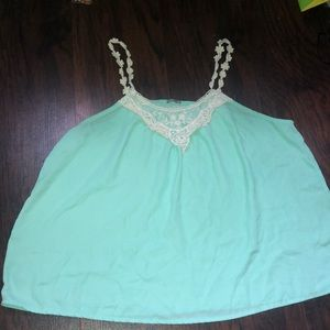 Charlotte Russe Cami with flower straps